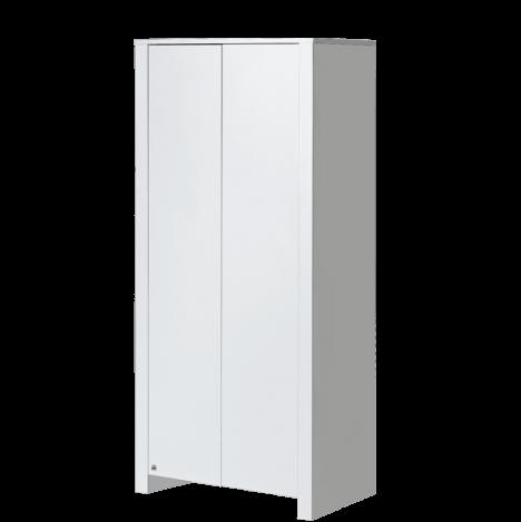 Biała szafa dwudrzwiowa – Basic