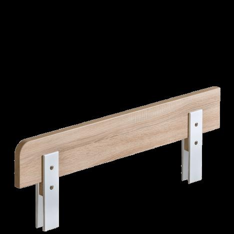 Barierka biała/dąb sonoma do łóżeczka 140×70 – Marsylia