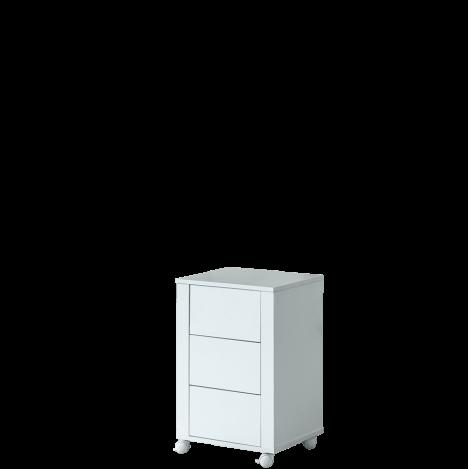 Regał z szufladami Bianko