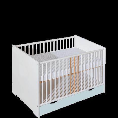 Łóżeczko dziecięce 120×60 z szufladą – Classic