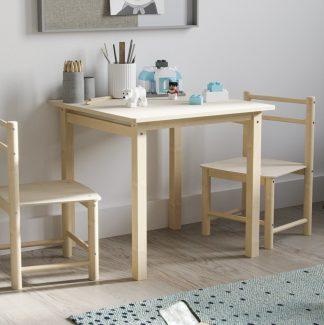 Stolik z krzesełkami do pokoju dziecięcego z drewna brzozowego