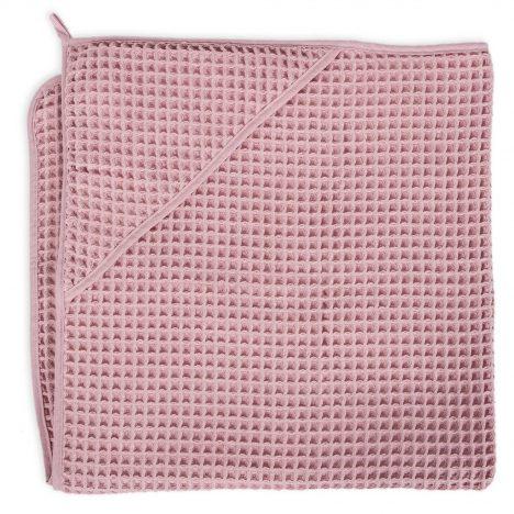 Ręcznik dla niemowlaka Waffle Line Silver Pink